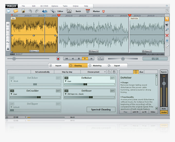 Click to view MAGIX Audio Cleaning Lab 15-deluxe screenshot