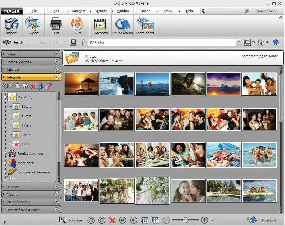 Click to view MAGIX Digital Photo Maker 9 screenshot