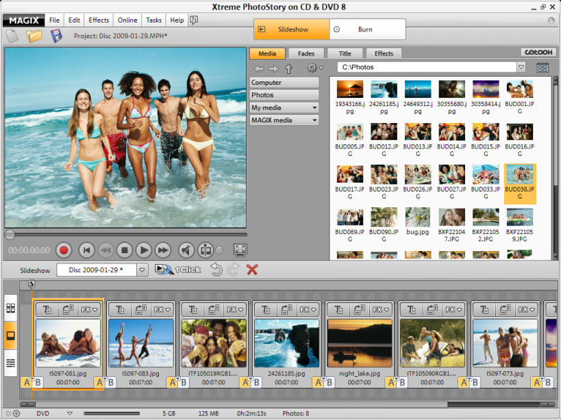 Click to view MAGIX Xtreme PhotoStory on CD & DVD 8 screenshot