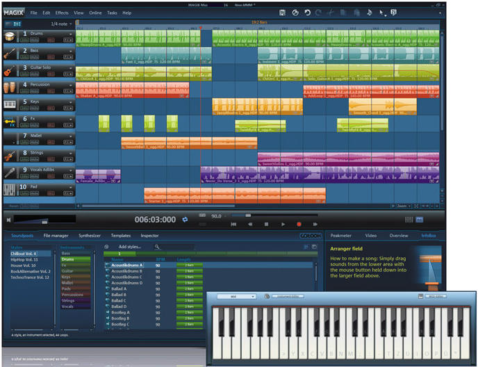 magix, music, wav, midi, loop, instrument, sound, mp3, id3, editor, create, podc