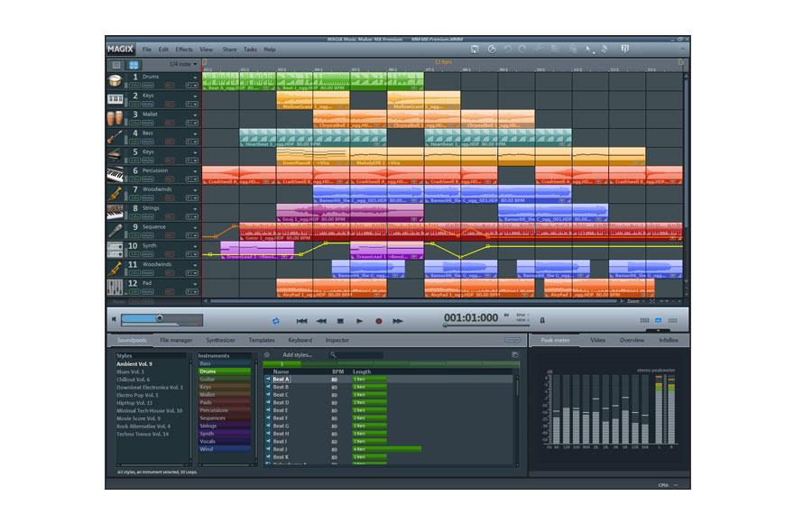 Windows 7 MAGIX Music Maker Premium MX full