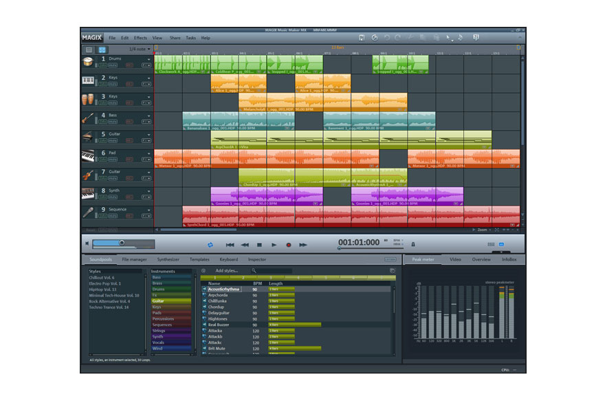 Windows 7 MAGIX Music Maker MX full