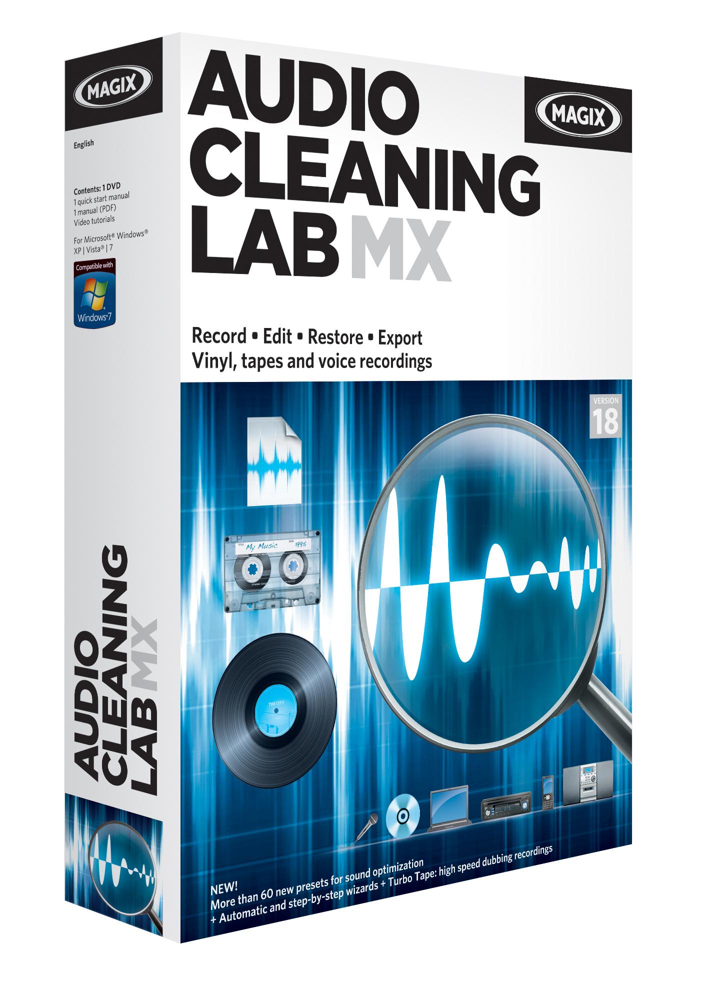 Professional audio editing and restoration: MAGIX Audio Cleaning Lab