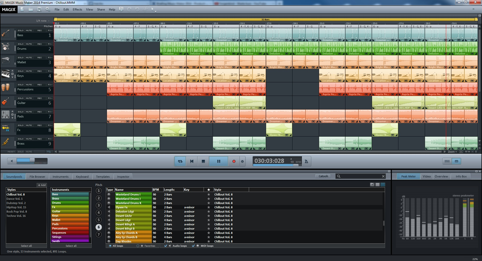 Click to view MAGIX Music Maker 2014 screenshot