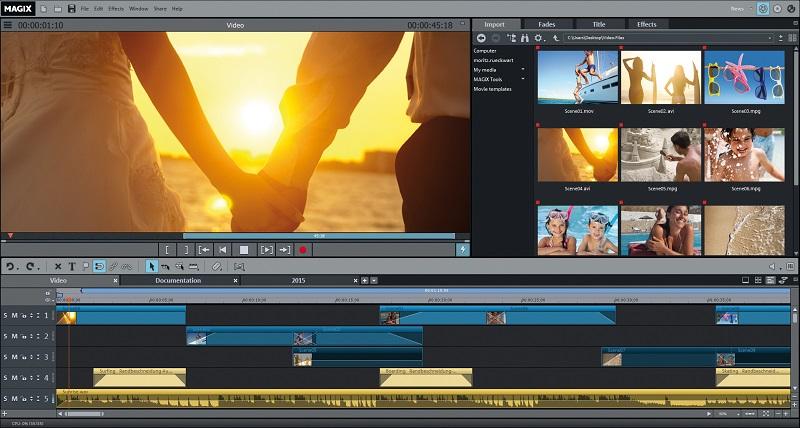 Windows 7 MAGIX Movie Edit Pro 2015 full